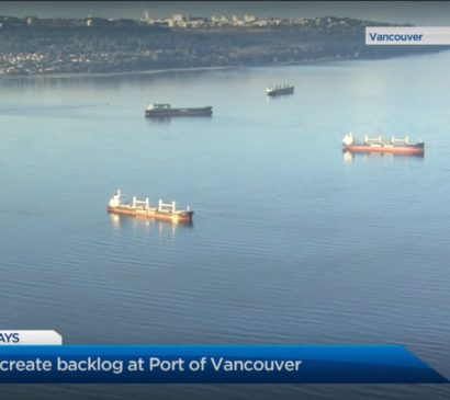 Global B.C.: Port of Vancouver faces 'backlog' with more than 40 ships at anchor amid protests, blockades